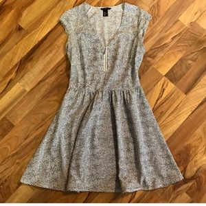 H&M • Speckled Fit & Flare Dress